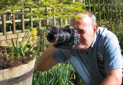 Alan McFaden taking a photograph