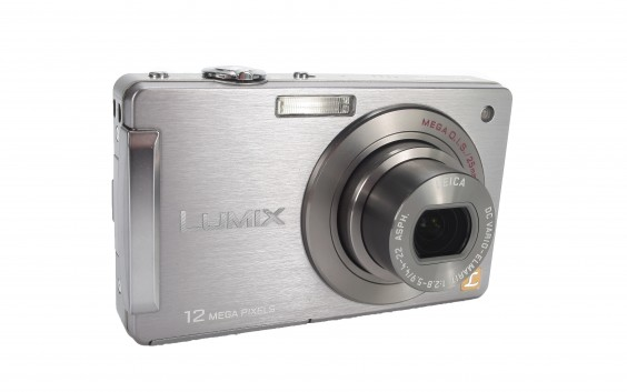 Panasonic FX550 review product image - front right
