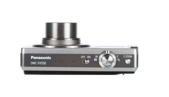 Panasonic FX550 review product image - top