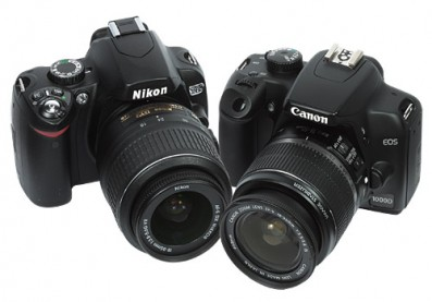 Nikon D60 vs Canon 1000D review product shot