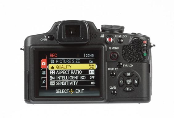 Panasonic Lumix FZ38 product image rear back