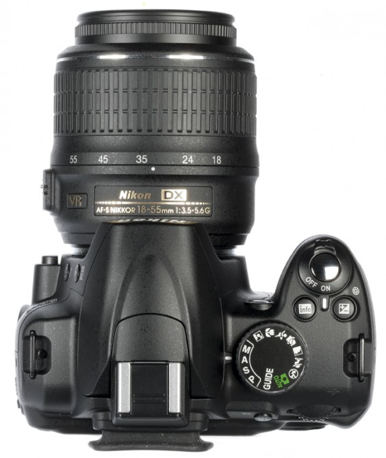 Nikon D3000 top