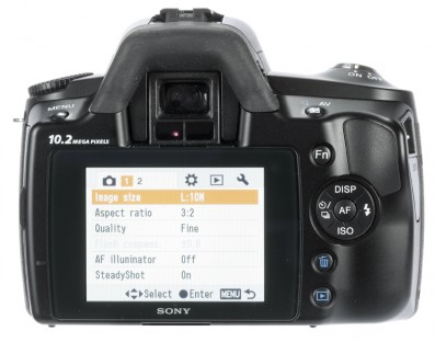 Sony A230 back