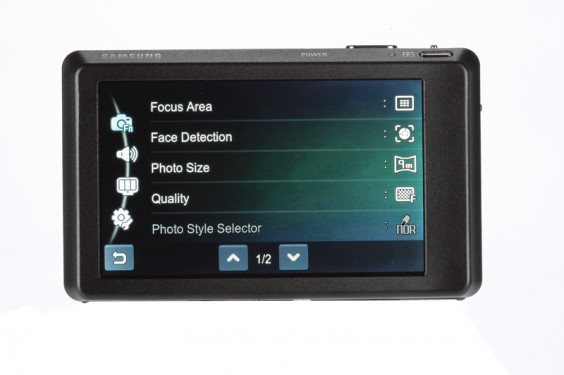 Samsung ST550 review product image rear back product image touchscreen