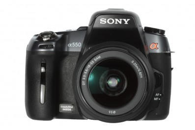 Sony Alpha a550 product shot front