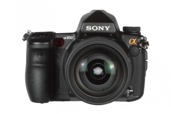 Sony a850 product shot front on lens