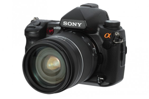Sony a850 product shot front left