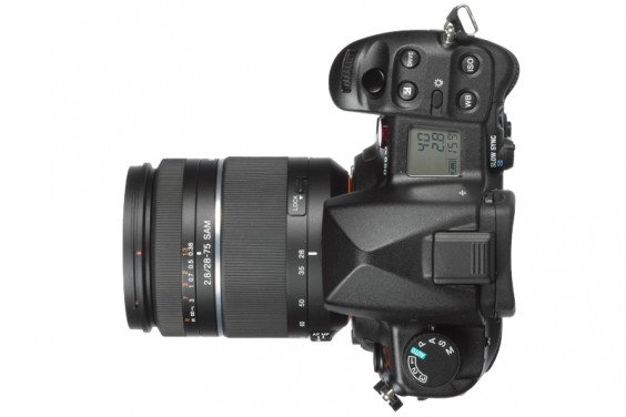 Sony a850 product shot top plate