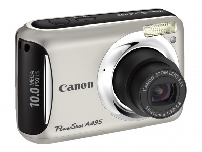 Canon PowerShot A495 product image side silver