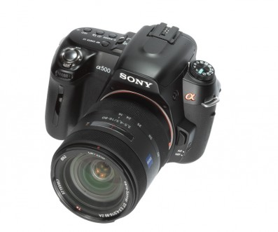 Sony Alpha a500 product shot front angle
