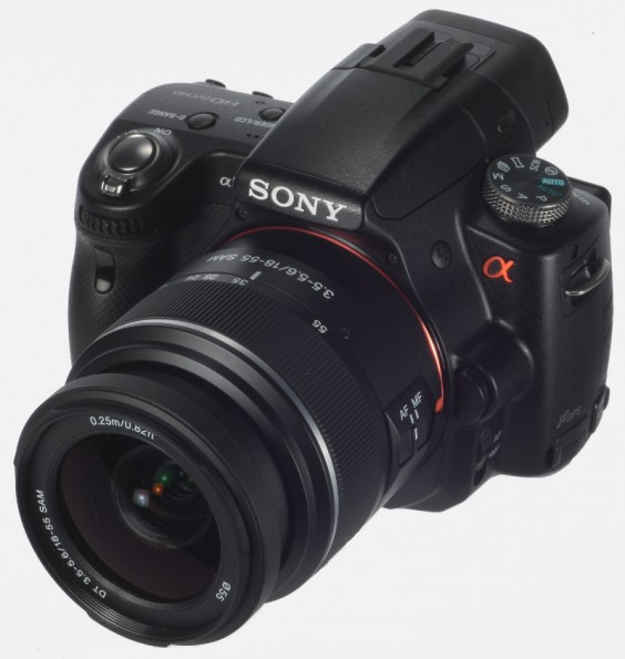 Sony Alpha A55 product shot - front side