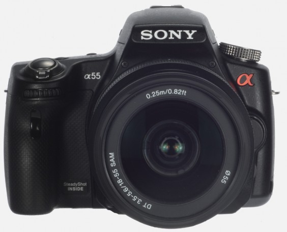 Sony Alpha A55 product shot - front