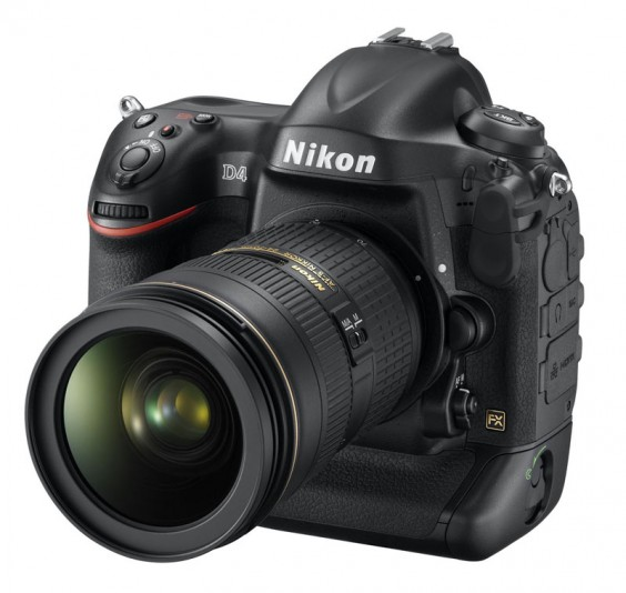 Nikon D4 front three quarter product shot